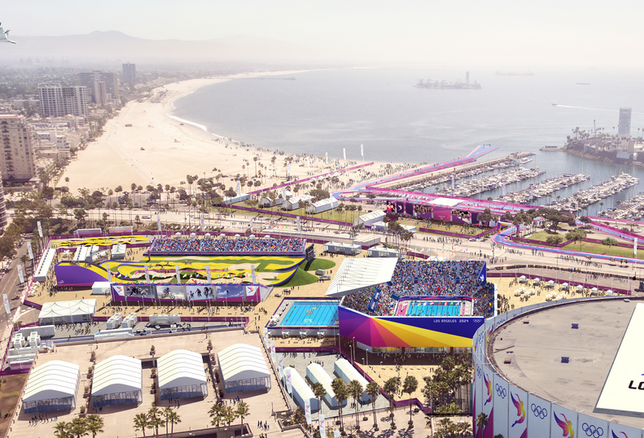 Proposed Olympic venue rendering in Long Beach, CA