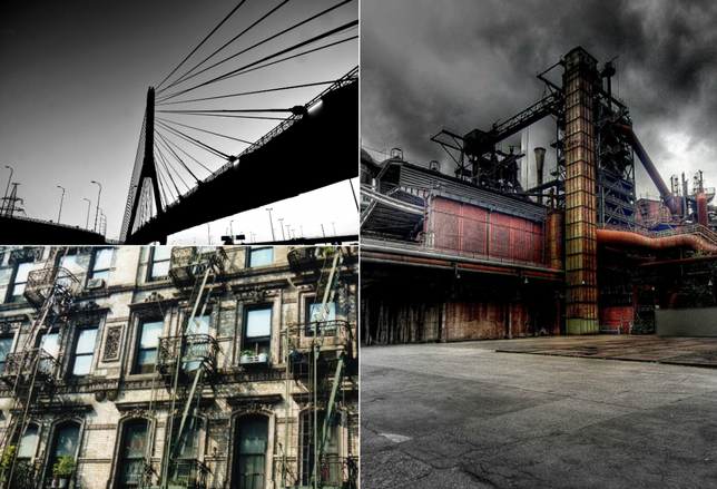 Industrial, Multifamily Infrastructure collage