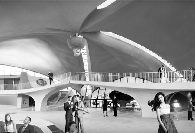 twa lobby rendering mcr; TWA Hotel rendering
