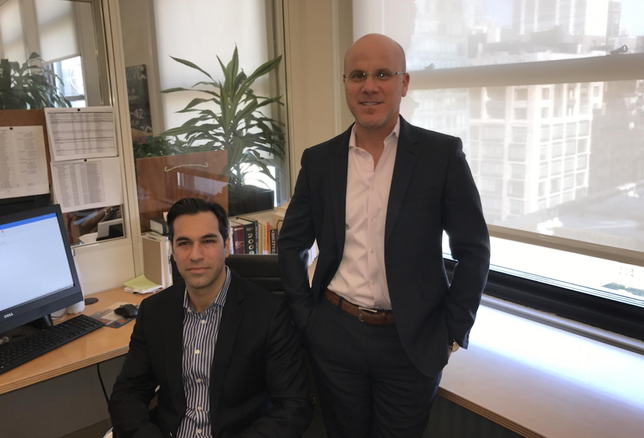 The Besen Group chief sales officer Ron Cohen (seated above with executive managing director Greg Corbin)