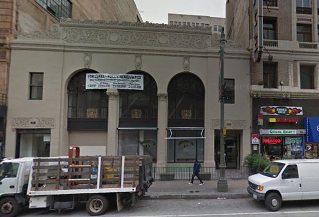 Historic Schaber's Cafeteria building at 620 S. Broadway, LA