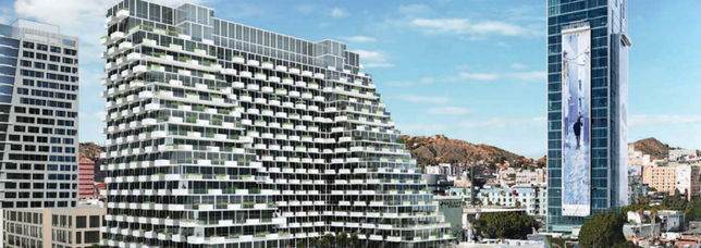 Rendering of Proposed Apartment Building on Vine Street in Hollywood