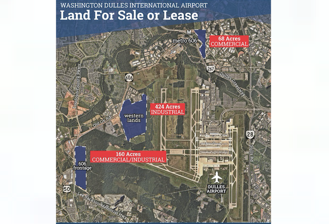 Dulles airport sites for sale
