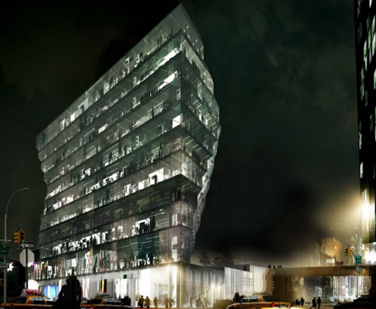 Rendering of Solar Carve Tower in Manhattan's Meatpacking District