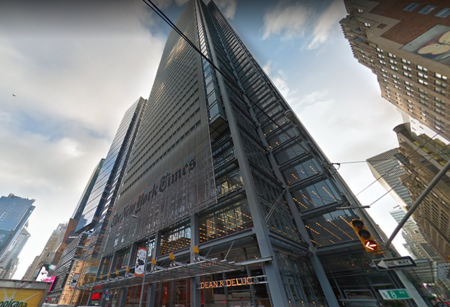 New York Times Finds Taker For Half Of Sublease Space At Headquarters