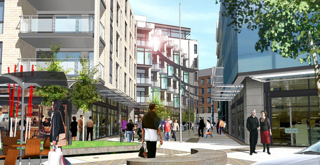 Artist Impression of Charlemont Regeneration Project