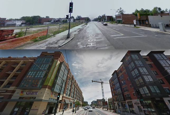 H Street June 2008 and June 2017