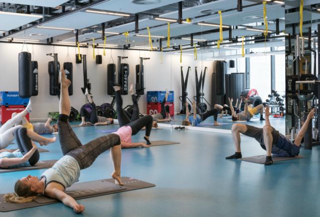LinkedIn's employee gym at its EMEA HQ in Dublin
