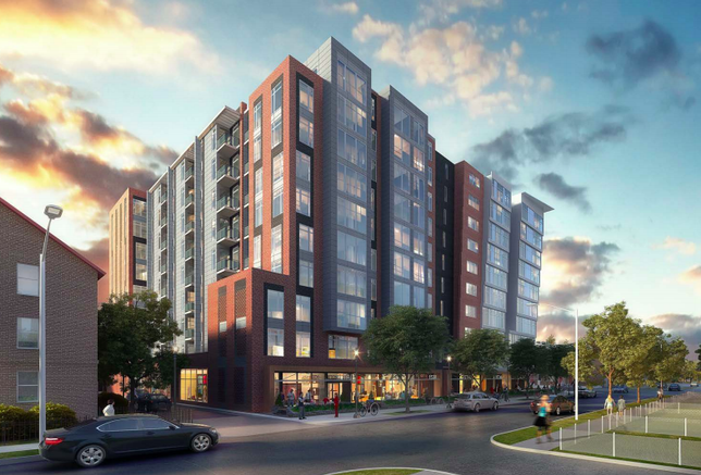 Rendering of the proposed affordable housing development at 1530 First St. SW in Washington, D.C.