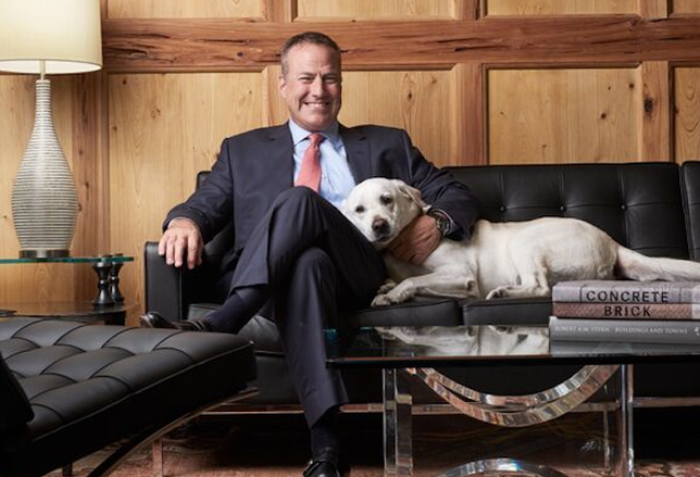 Greystar CEO Bob Faith with his dog, Koda