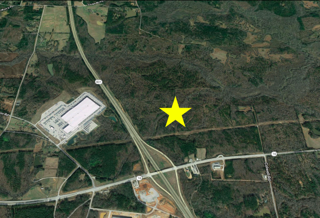 The site of a massive proposed industrial development in Butts County, Georgia