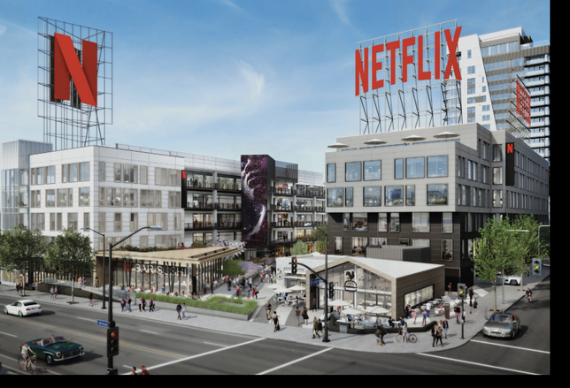 Rendering of Kilroy Realty's On Vine, which is fully leased by Netflix