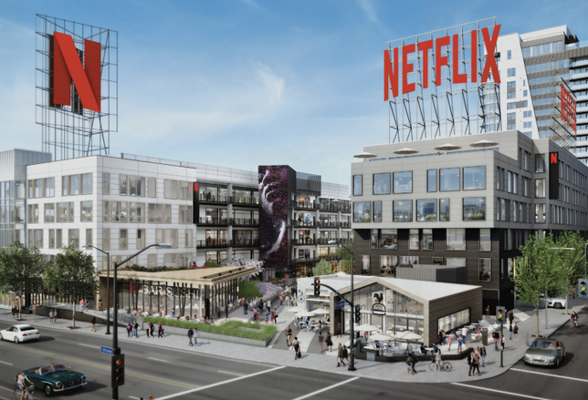 Rendering of Kilroy Realty's Academy on Vine, which is fully leased by Netflix