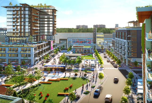A rendering of the Landmark Mall redevelopment