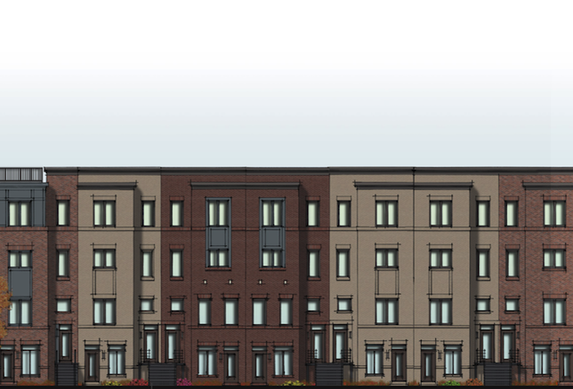 A rendering of Phase 1 of District Growth's project at 13th Street and Rhode Island Avenue NE