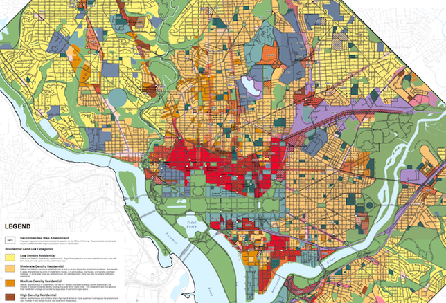 The proposed Future Land Use Map that D.C. included in its recommended Comprehensive Plan amendments