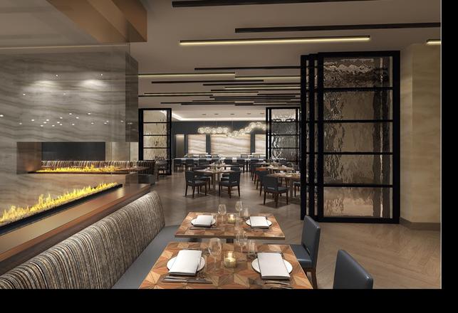 Hilton North Houston's new dining area Hearth