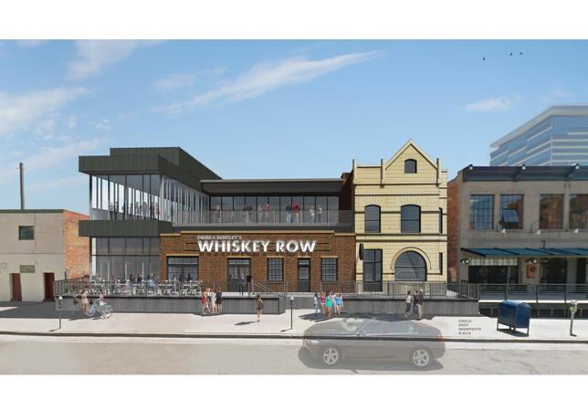 Dierks Bentley's Whiskey Row is moving into the current LoDo's Bar and Grill location near Coors Field. This rendering shows how owners worked with the city to preserve existing historic structures while implementing a multi-level design.