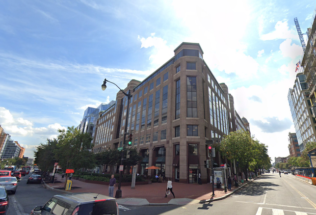 The office building at 650 Massachusetts Ave. NW