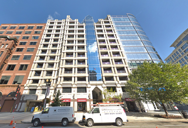 The office building at 1425 New York Ave. NW