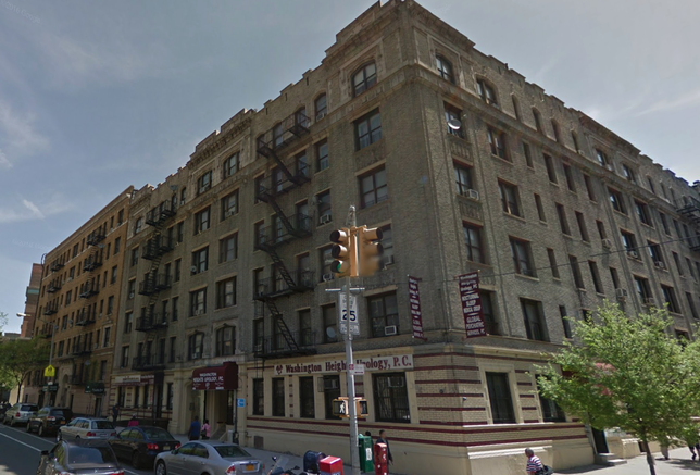 Old apartment buildings in Manhattan's Washington Heights neighborhood