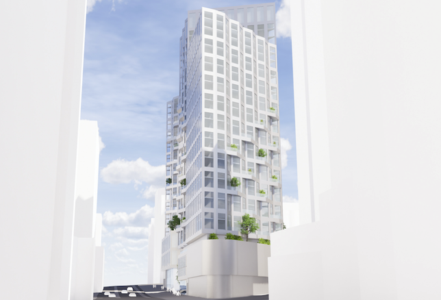A rendering of the project Snell Properties has planned for 1820 North Fort Myer Drive in Rosslyn.