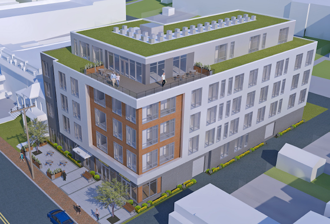 A rendering of the Todd A. Lee Senior Residences planned at 809 Kennedy St. NW