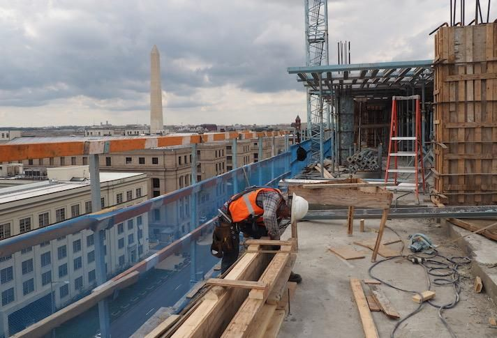 D.C.-Area Construction Starts Were Down 50% Before March Began