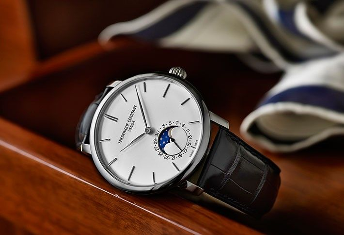 Frederique Constant Slim Line Moonphase Watch