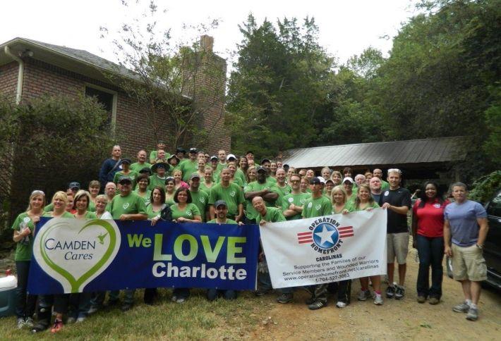 Camden Volunteers Help Vet