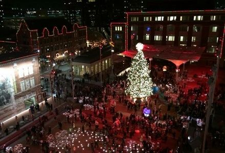 Christmas Season Starts in the  Transformed Sundance Square
