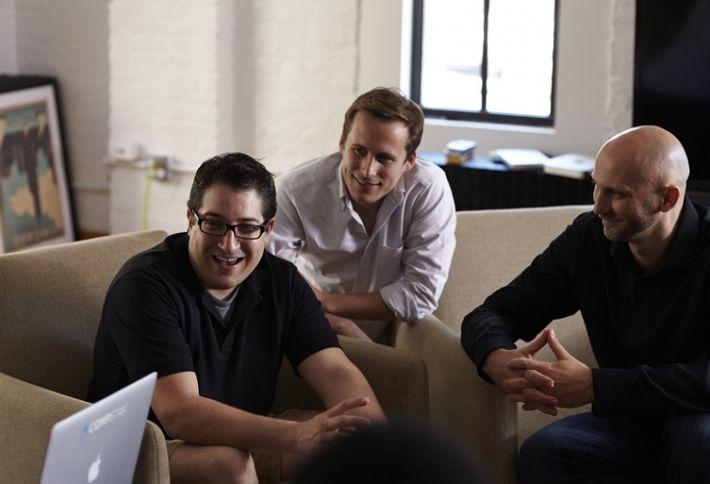 CompStak CEO Michael Mandel, Executive Director David Peterson and CTO Vadim Belobrovka