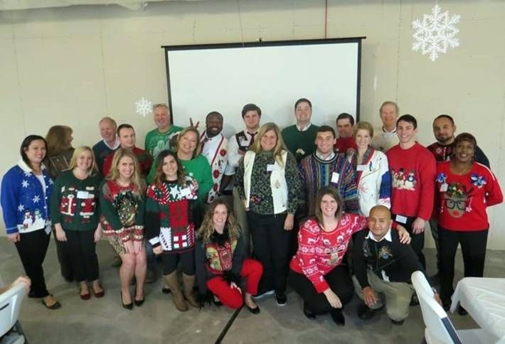 Houston CRE Gets Ugly with Christmas Sweaters