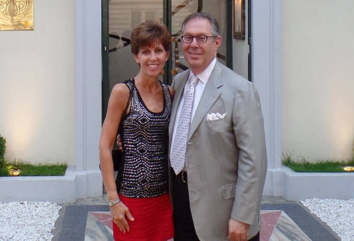 EagleBank's Larry Bensignor with his wife Fern in 2015