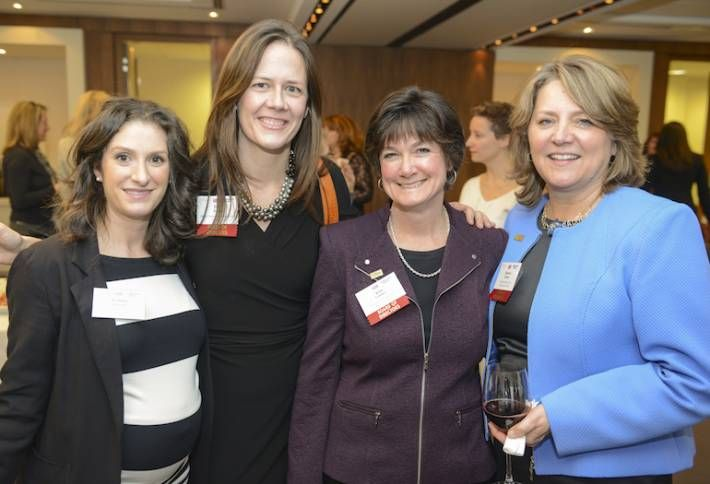 Tara Piurko, second from left, is CREW Network's 2018 president. Piurko is seen here with Toronto CREW members Leanne Fasciano, Kim Lanthier and Sharon Addison in 2015.