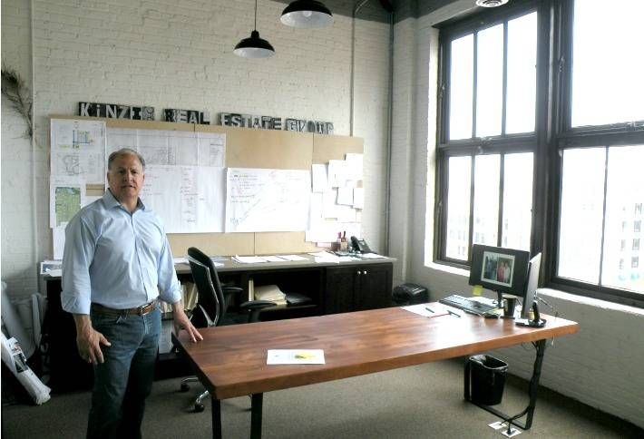 Kinzie Real Estate Group Principal Steve Spinell in his River North office.
