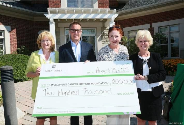 Great Gulf Donates $200k to Brampton Cancer Support Centre