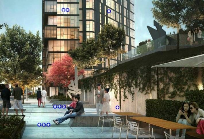A rendering of MiCA, a twin tower residential project in Logan Square, Chicago