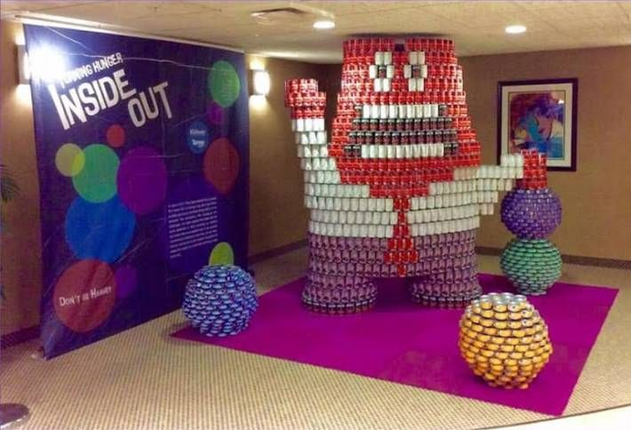Your Kids Will Obsess Over This Canstruction Creation