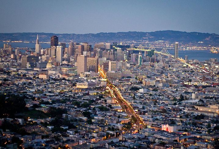 San Francisco skyline credit: Tony Webster