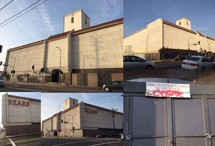 Old Sears Building on Santa Monica Blvd