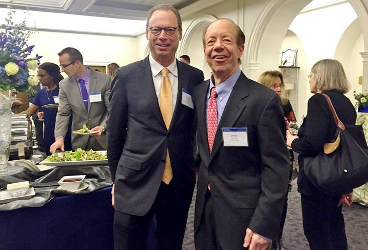 Drinker Biddle chairman Andrew Kassner and labor & employment partner Jerry Hartman at the fifth anniversary celebration of the Barbara McDowell Foundation.