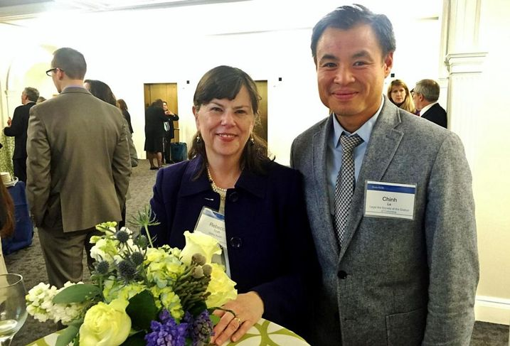 Sidley Austin pro bono director Rebecca Troth and Legal Aid legal director Chinh Le
