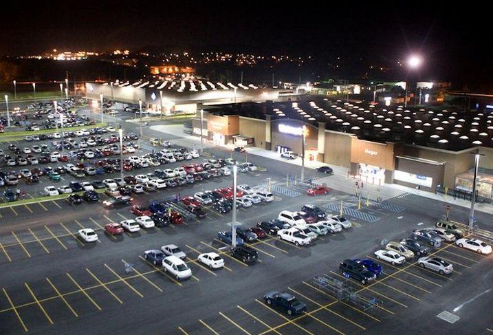 LED Parking Lot in Walmart