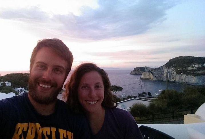 Orton Development's Nick Orton and wife, Katie, in Italy