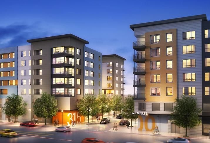 New multifamily development for South San Francisco credit: Sares Regis Group of Northern California