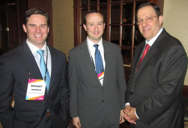 Hanover Co CIO Brandt Bowden, JLL's Jonathan Paine and Weingarten CEO Drew Alexander at Bisnow Houston's capital markets event Feb 2016