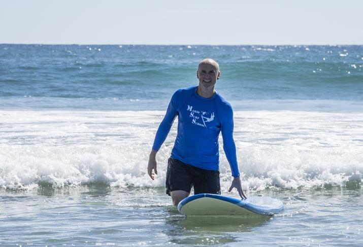 Chip Conley surfing in Todos Santos, Baja Mexico credit: Nina Dietzel