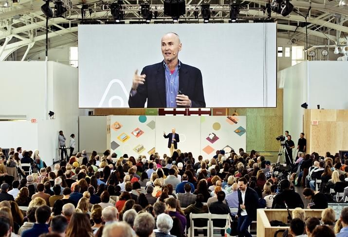 Airbnb's Chip Conley at the first Airbnb Open for hosts in 2014