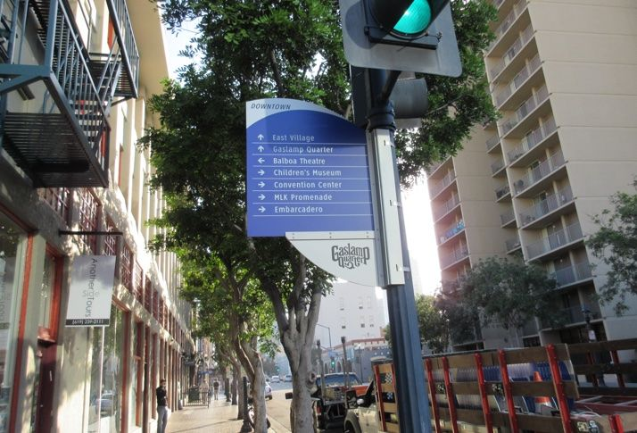 New Wayfinding System Eases Navigation Of Downtown San Diego On Foot Or Bike